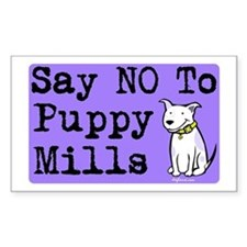 No Puppy Mills Rectangle Decal