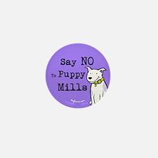 No Puppy Mills Mini Button