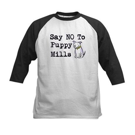 No Puppy Mills Kids Baseball Jersey