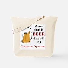 Computer Operator Tote Bag