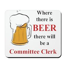 Committee Clerk Mousepad