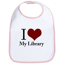 Cute I love my library Bib