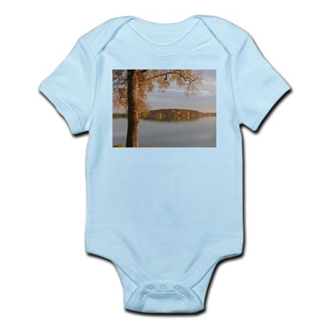 TREE BATHED IN AUTUMN FIRE Infant Bodysuit