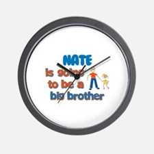 Nate - Going to be Big Brothe Wall Clock