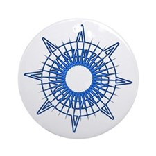 Corley's Compass Ornament (Round)
