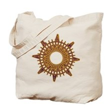 Brass Compass Tote Bag
