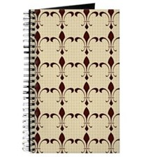 Brown Fleur-de-lis on Cream Journal