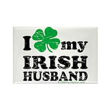 Love My Irish Husband Rectangle Magnet