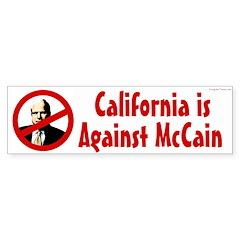 California is Against McCain bumper sticker