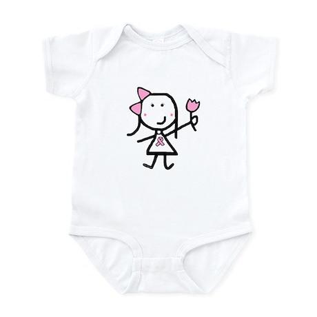 Girl & Pink Ribbon Infant Bodysuit