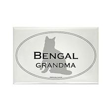 Bengal Grandma Rectangle Magnet
