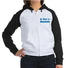 Be Kind to Animals Women's Raglan Hoodie
