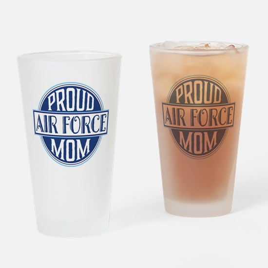 Proud Air Force Mom Drinking Glass
