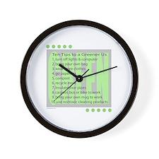 10 Green Tips Wall Clock
