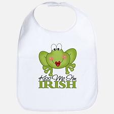 Kiss Me I'm Irish Frog Bib