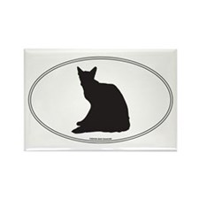 Balinese Silhouette Rectangle Magnet