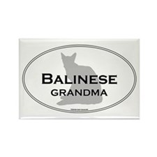 Balinese Grandma Rectangle Magnet