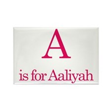 A is for Aaliyah Rectangle Magnet
