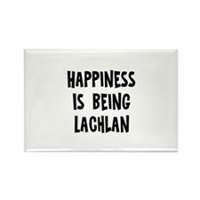 Happiness is being Lachlan Rectangle Magnet