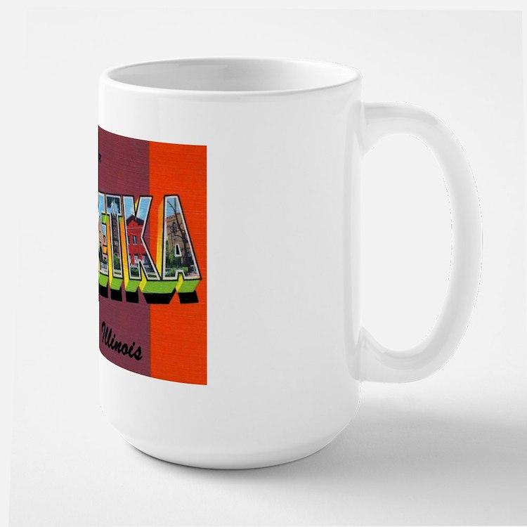 Winnetka Illinois Greetings Large Mug