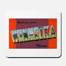 Winnetka Illinois Greetings Mousepad