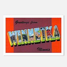Winnetka Illinois Greetings Postcards (Package of