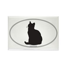 Am Shorthair Silhouette Rectangle Magnet