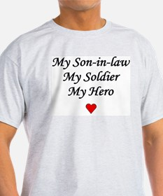 My Son-in-law Soldier Hero Ash Grey T-Shirt