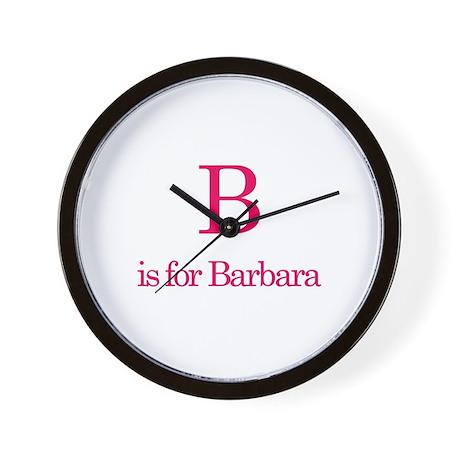 B is for Barbara Wall Clock