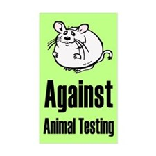 Against Animal Testing Rectangle Decal