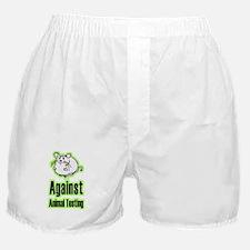 Against Animal Testing Boxer Shorts