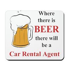 Car Rental Agent Mousepad