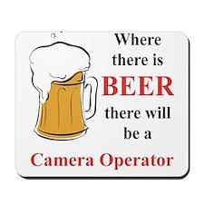 Camera Operator Mousepad