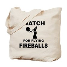 Watch For Flying Fireballs Tote Bag