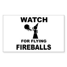 Watch For Flying Fireballs Rectangle Decal