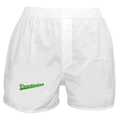 Retro Vegetarian Boxer Shorts