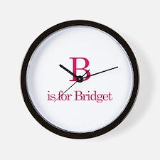 B is for Bridget Wall Clock