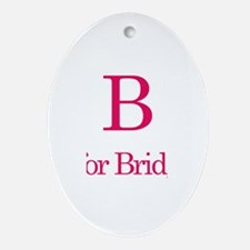 B is for Bridget Oval Ornament