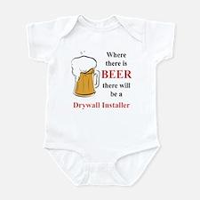 Drywall Installer Infant Bodysuit