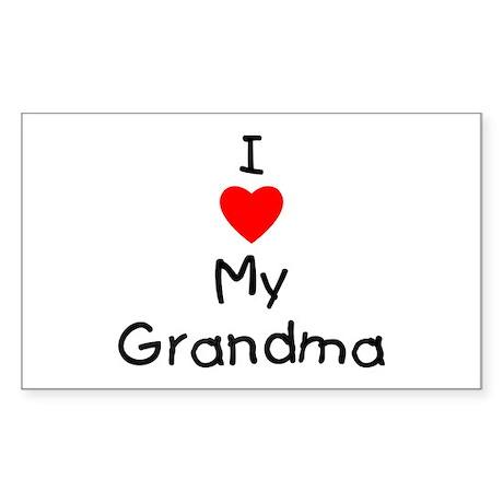 I love my grandma Sticker (Rectangle)