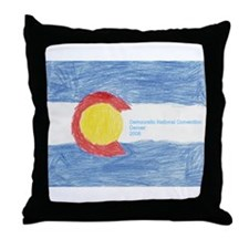 DNC Denver '08 Throw Pillow