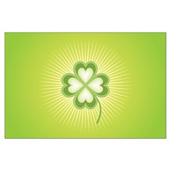 Retro Good Luck 4 Leaf Clover Posters