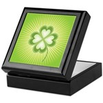 Retro Good Luck 4 Leaf Clover Keepsake Box