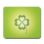 Retro Good Luck 4 Leaf Clover Mousepad