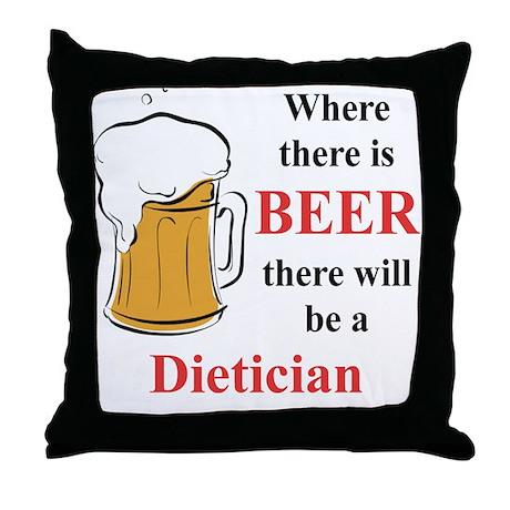 Dietician Throw Pillow