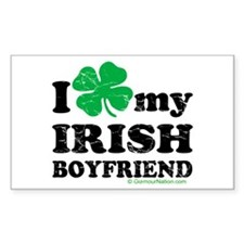 Love My Irish Boyfriend Rectangle Decal