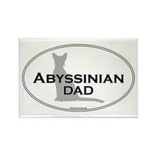 Abyssinian Dad Rectangle Magnet