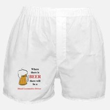 Diesel Locomotive Driver Boxer Shorts