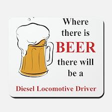 Diesel Locomotive Driver Mousepad