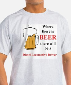 Diesel Locomotive Driver T-Shirt